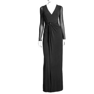 Halston Heritage Long-Sleeve Evening Gown, NWOT